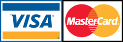 We proudly accept major Credit Cards